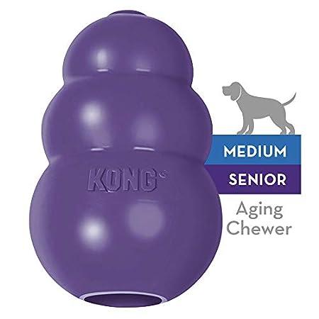 KONG – Senior Hundespielzeug aus weichem Naturkautschuk – Kauen, Apportieren – Mittelgroße Hunde