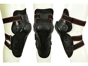 MX Motocross Moto Tout-terrain genou articulé Protège-tibias Guarde Sport équipement de protection Noir Armure Corporelle