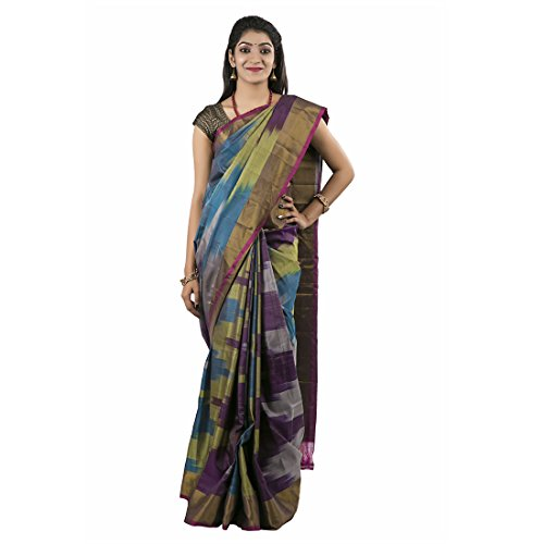Abhisilks Women's Uppada Soft Silk Saree With Blouse Saree (Abs1029_Multicolor)