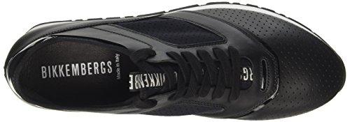 BIKKEMBERGS Herren Runn-Er 802 Niedrige Sneaker Bianco