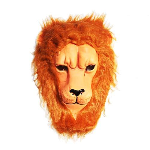 YKQ WS Halloween Maske Stage Performance Requisiten Eva Plüsch Tier Dekoration Requisiten für Männer und Frauen (Farbe : Lion)