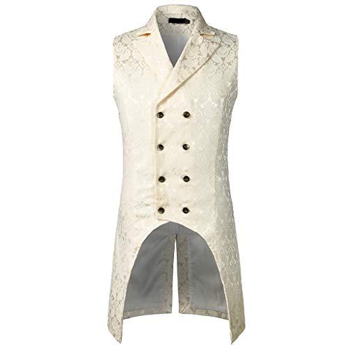 Kobay Hommes Liquidation Tailcoat Veste Gothique Steampunk Uniforme Costume De Fête Outwear Manteau