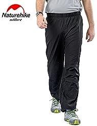 Naturehike Hombres impermeable de las mujeres repelente de agua pantalones capris ultraligero de secado rápido pantalones para Camping, Senderismo, Cyling, color Men, tamaño XXL