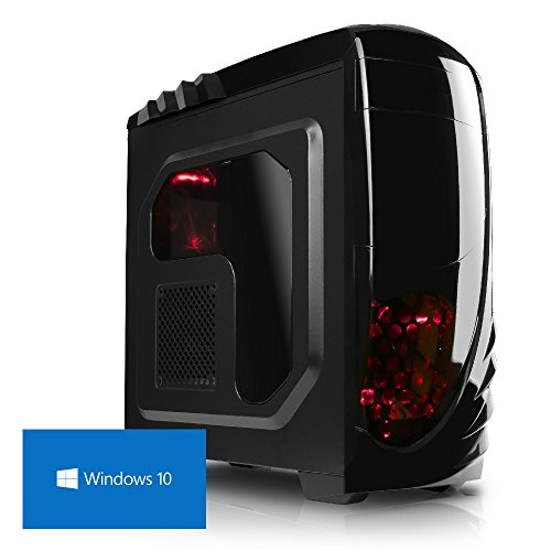 DEViLO Zenturio II Gaming PC AMD FX-6300 4.1GHz Turbo 6-Kern, 16GB RAM, GeForce GTX 1050Ti 4GB, 1000 GB, ASUS, USB3, DVD, Sound, LAN, Win10, Gamer Computer