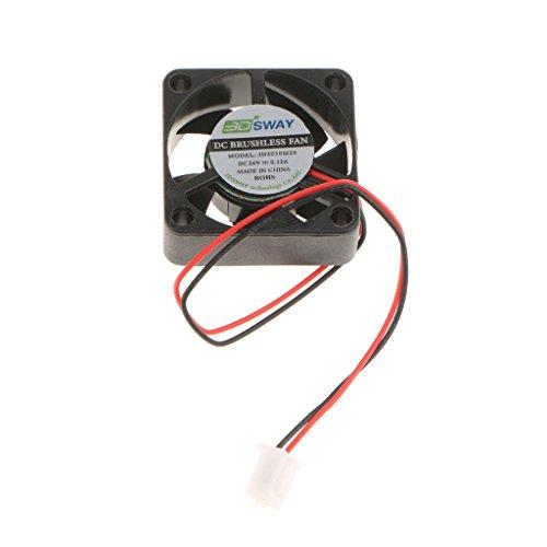 Sharplace 1x Kühlventilator 24VDC 30x30x10mm Kühlerlüfter für 3D-Printer Hydraulischer Ventilator