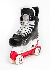Rollergard - Funda Protectora para Patines de Hockey sobre Hielo y Hielo (con Ruedas, Talla única), Color Rojo