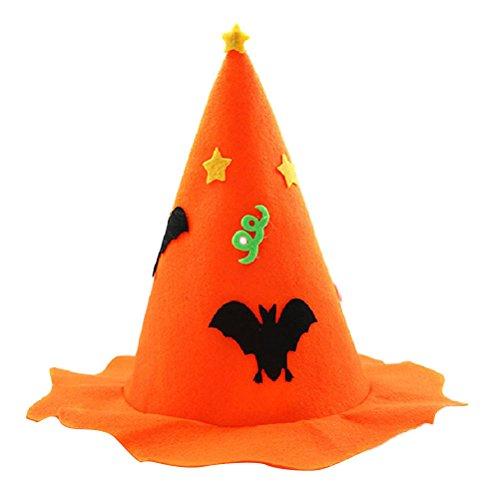 Bestoyard cappello di zucca cappello di halloween cappelli per bambini cappello copricapo spettacolo visualizza cappelli di danza decorazione del partito di halloween