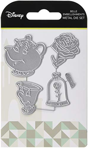 Character World Disney Beauty and The Beast Embellishments Die Set-Belle Embellishments