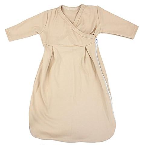 Baby Innenschlafsack 100% Baumwolle Langarm Innensack für Schlafsack, Farbe: Beige, Größe: 74/80