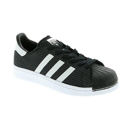 adidas Unisex-Kinder Superstar J Turnschuhe, Schwarz Schwarz (Core Black/footwear White/footwear White)