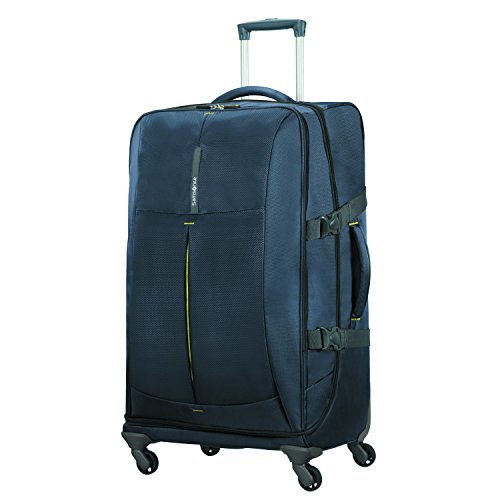 SAMSONITE 4mation - Spinner Duffle Bag 77/28 Bolsa de Viaje, 77 cm, 99 Liters, Azul (Midnight Blue/Yellow)