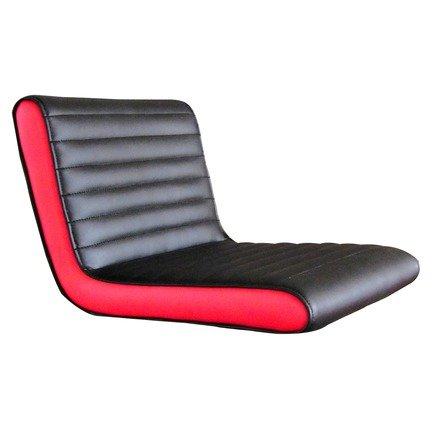 DP Griferia 16050���Sedile Quadrato Colore: Rosso/Nero (finta pelle)
