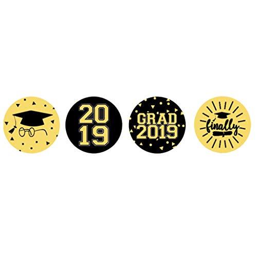 B Blesiya 108x Papieraufkleber Geschenkaufkleber Süßigkeiten/Verpackung/Gläser Aufkleber mit 2019 Abschluss Stil