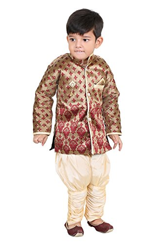 FTC Bazar Boys Festive & Party Kurta and Pyjama Set (Multicolor) (Red,...