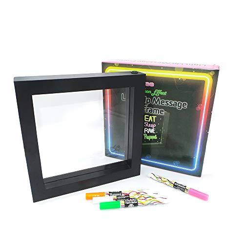 The Glowhouse - Tablero de Notas con luz LED (Incluye 4 bolígrafos de neón)