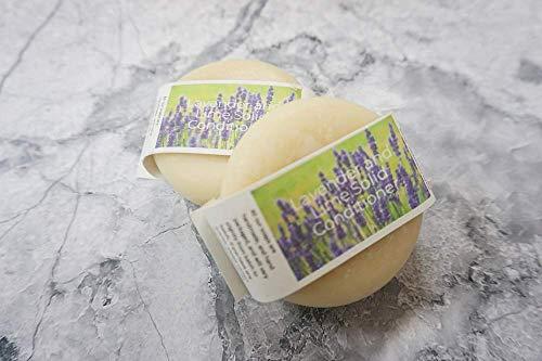 Plastic Free Conditioner Bar - Lavender and Lime - Zero waste Hair Care Handmade In Devon, Uk