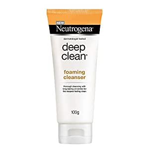Neutrogena Deep Clean Foaming Cleanser For Normal To Oily Skin, 100g