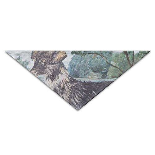 Gxdchfj Watercolor Dog Painting Triangle Pet Scarf Dog Bandana Pet Collars for Dog Cat - Birthday