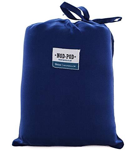 Deluxe Nod-Pod Saco de Dormir Forro - 100{931ba4afe3545281d4b8d91e4c7fb8d9e143b5462a0352439f0fdf59a6469f0d} Seda Pura - Extra Grande y Extra Lujoso, Color Azul, tamaño Normal, 0.24