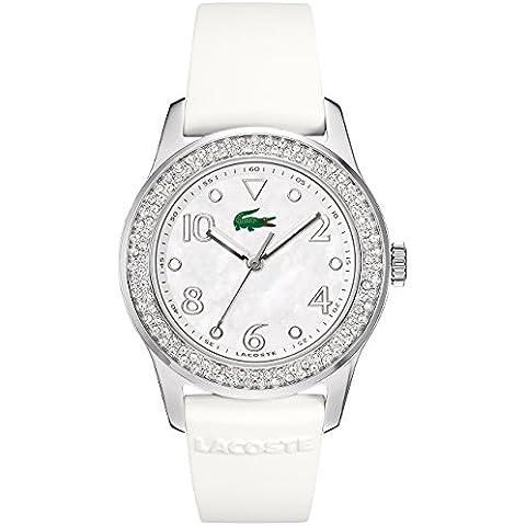 Lacoste 2000647 - Reloj para mujeres, correa de goma color blanco