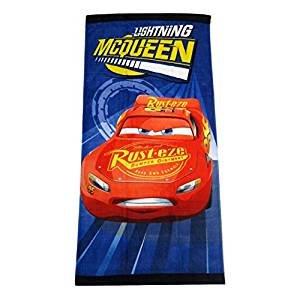 S&L Home Fashion Disney Pixar Cars Lightning McQueen Clubhouse Fiber Reactive Strandtuch, Turbo
