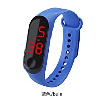 AKDSteel Fashion Student Couple Led Casual Sports Touch Electronic Watch Millet 3 Bracelet Watch Trend Fashion Mesh Belt Watch blue Practical electronics