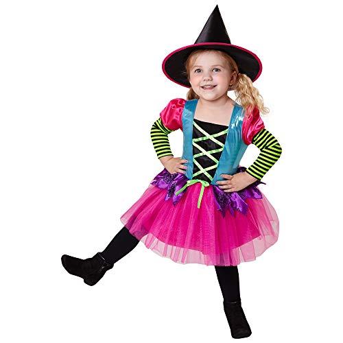 Bunte Kostüm Hexe - Widmann - Kinderkostüm Hexe
