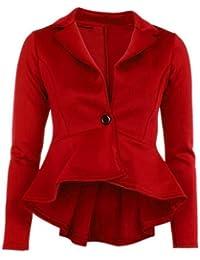 Chocolate Pickle ® Neue Frauen Plus Size Single Button Langarm-Blazer-Jacken 36-52