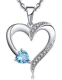 27dcdf969fbf YL Collar de plata 925 collar de corazón de amor con 5 MM   5 MM