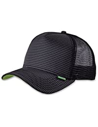 DJINNS HFT TRUCKER CAP - NEEDLECHECK II - BLACK