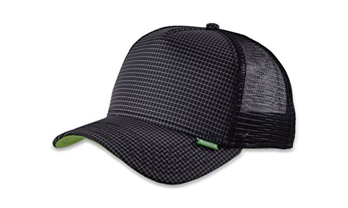 DJINNS - Needlecheck II (black) - High Fitted Trucker Cap