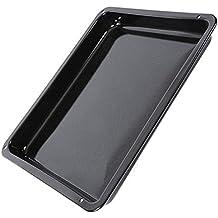 Ikea Horno Bandeja de Goteo de Cocina Cacerola (esmaltada), Color Negro