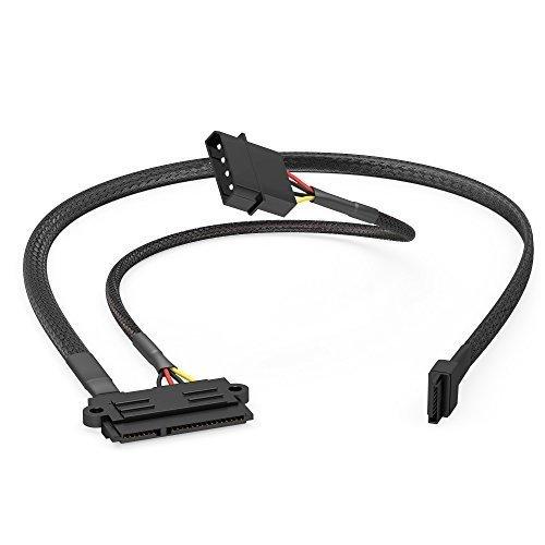 KabelDirekt - 22-Pin SATA auf 4-Pin Molex Stromkabel 30cm und 7-Pin SATA 3 Datenkabel 6 Gbit/s 60cm