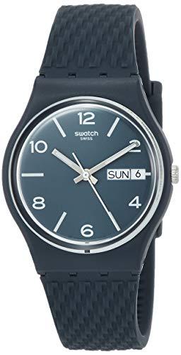 Swatch Orologio Analogueico Quarzo Unisex Adulto con Cinturino in Silicone GN725