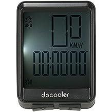 Docooler Cuentakilómetros Bici de la Computadora sin Hilos de la Bicicleta Velocímetro del Odómetro de Temperatura Función