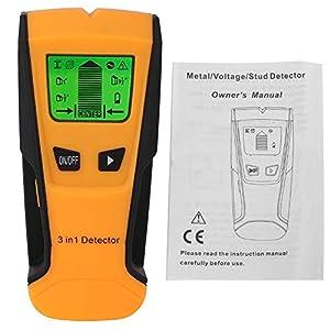 Detector de centro de 3 en 1 perno prisionero Metal CA Detector de cable en vivo Escáner Pantalla LCD eléctrica Detector de pared