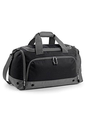ckte Sporttasche mit answahl Namen oder Initialen (Schwarz) (Bestickte Sporttaschen)
