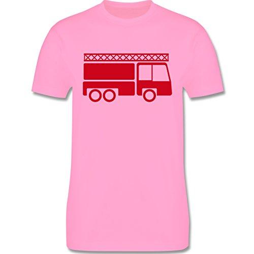 Feuerwehr - Feuerwehrauto - Herren Premium T-Shirt Rosa