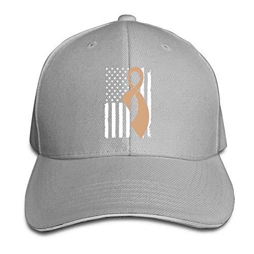MACITA Premium Men Women Baseball Cap, Childhood Cancer Awareness Flag-1 Adult Adjustable Snapback Hats -