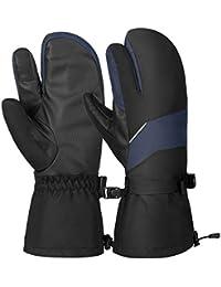 VBIGER Gants Ski Hiver Chaud Moufle Sport Velo pour Hommes Femmes e2a55625995