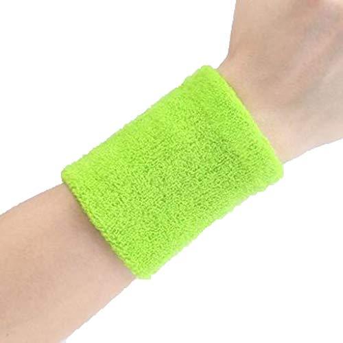 JIAJIAKONG Sport-Armband-Kürbis-Badminton-Terry-Stoff-Handgelenk-Schweiß-Bänder für Tennis-Basketball-Turnhalle 10cm * 8cm Mehrfarben wahlweise freigestellt,Green