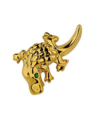 Placcato oro, molto rara Cabouchon Platypus Pin-Spilla