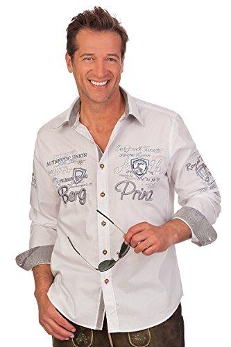 Alpenwahnsinn Trachtenhemd REGULAR, Größe 37/38 (S) Weiß