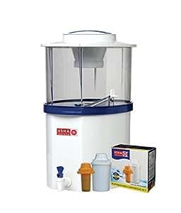 Usha Shriram Gravity Based Water Purifier 20-Litre -White And Blue