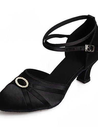 La mode moderne Sandales femmes personnalisables Chaussures de danse salsa Latin Cuban Heel Sandals débutant la pratique de performance professionnelle Fuchsia