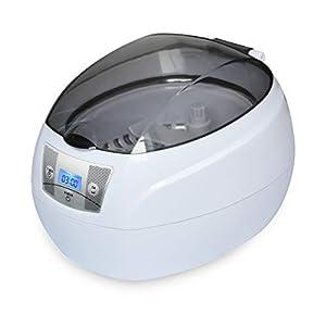 SKYMEN Ultraschallreinigungsgerät Brille Ultraschallreiniger 750ML Ultraschallgerät Reinigung für Brillen Schmuck Zahnprothesen Uhren Münzen CDs usw (Weiß)