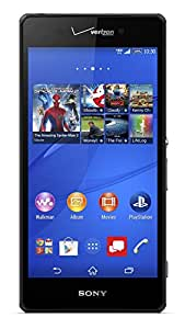 Sony Xperia Z3v D6708 32GB Unlocked GSM 4G LTE Water-Resistant 20.7 MP Camera Smartphone, Black (USA Imported)