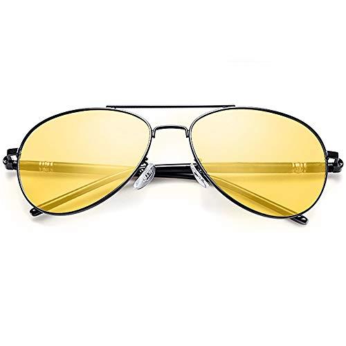 Samfolk Nachtsichtbrille Autofahren, Unisex Herren Damen Autofahrerbrille Nachtsicht Runde Brille für Nacht, Hilfreiches Autofahrer zubehör