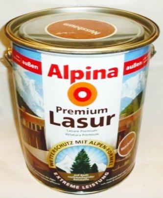 ALPINA Premium Lasur, 2,5 L. Holz Dickschichtlasur außen, Palisander