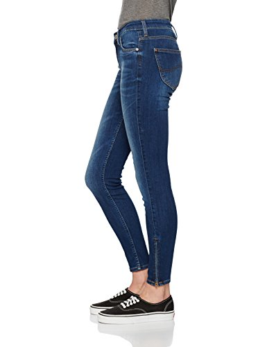 Lee Scarlett Cropped, Jeans Donna Blu (Night Sky)